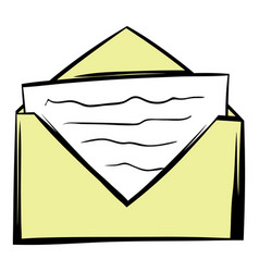 letter in envelope icon cartoon vector image