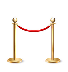 3d realistic fence for red carpet vector image