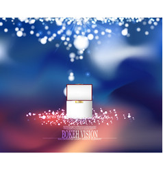 abstract bokeh vision background design with vector image vector image
