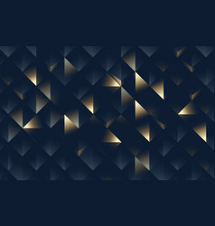 abstract geometric pattern luxury dark and gold vector image