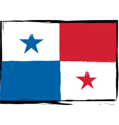 abstract panama flag or banner vector image