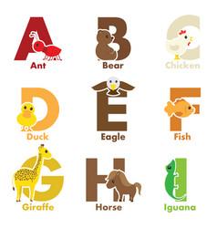 alphabet animals vector image