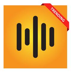 Audio wave icon vector