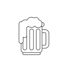 Beer thin line icon vector