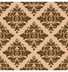 Beige and brown arabesque motifs vector image