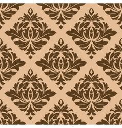 Beige and brown arabesque motifs vector