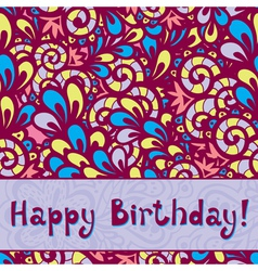 birthday card2 vector image