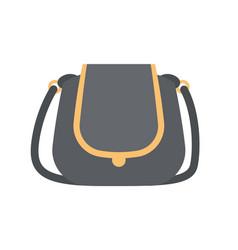 black modern handbag with elegant golden elements vector image