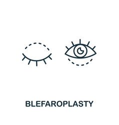Blepharoplasty icon from plastic surgery vector