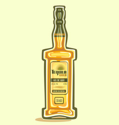 Bottle of tequila vector