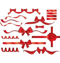 bows ribbons vector image