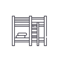 bunk bed line icon concept bunk bed linear vector image