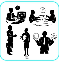 Businessman and businesswoman set vector