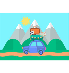 car in travel vector image