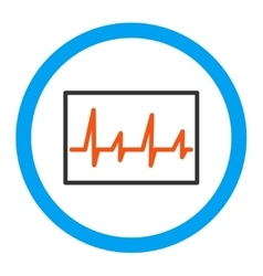 Cardiogram Rounded Icon vector