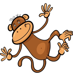 cartoon of funny monkey vector image