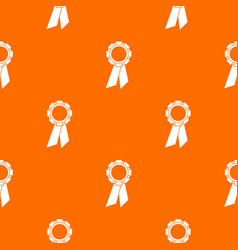 champion medal pattern seamless vector image