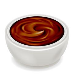 chocolate cream curl splash realistic 3d isolated vector image