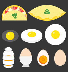 collection eggs vector image