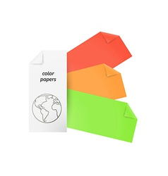 color papers vector image