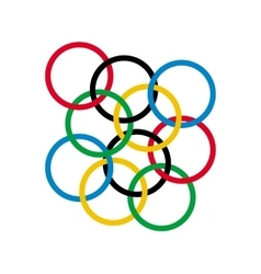 Colored rings on a white background vector