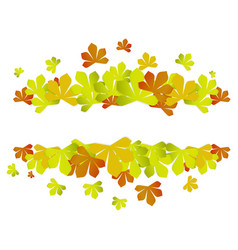 colorful autumn leaves autumn sale frame vector image