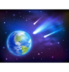 Comets Coming To Earth Background vector