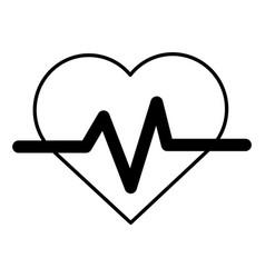 contour heartbeat cardio vital sign vector image