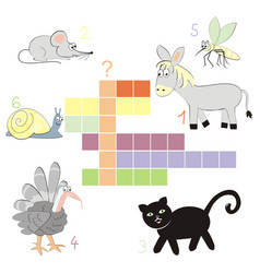 crossword autumn vector image