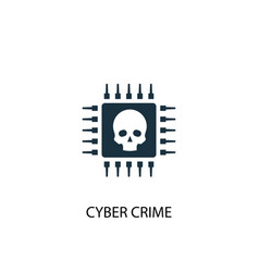 Cyber crime icon simple element vector