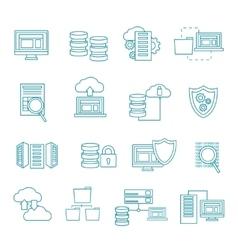 Datacenter Icon Set vector