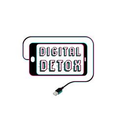 Digital detox poster vector