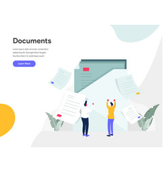documents concept modern flat design concept vector image