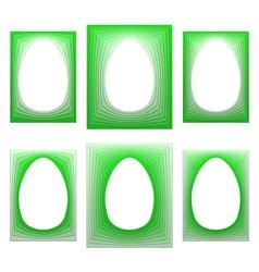Egg shaped retro frame vector