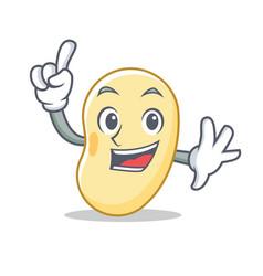 Finger soy bean mascot cartoon vector