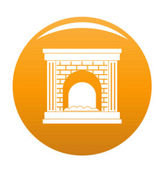 Fireplace for fire icon orange vector