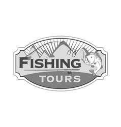 Fishing tours emblem vector image
