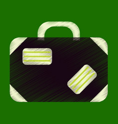 flat icon in shading style suitcase vector image