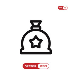 gift sack icon vector image