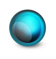 Glass sphere futuristic abstract element vector