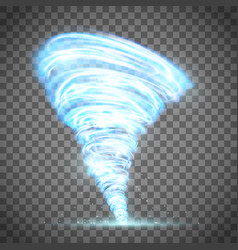 Glowing tornado with lightning vector