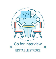 Go for interview concept icon job interviewing vector