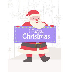 greeting card with santa claus and banner vector image