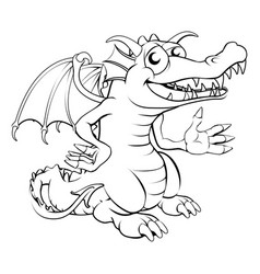 Happy cartoon dragon vector
