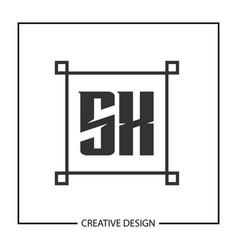 initial letter sx logo template design vector image