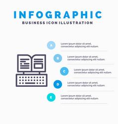 Key keyboard book facebook blue infographics vector