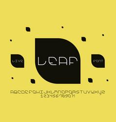 leaf font alphabet vector image
