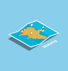 Malang indonesia java explore maps with isometric vector