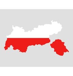 Map and flag of Tyrol vector image