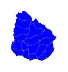 Map of uruguay vector